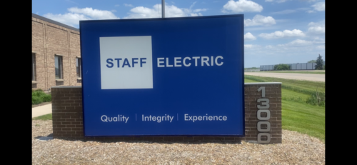 Staff Electric LED Monument Sign